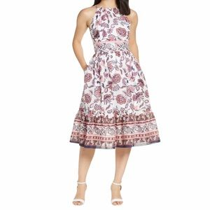 Eliza J   Floral Halter Midi Dress NWT